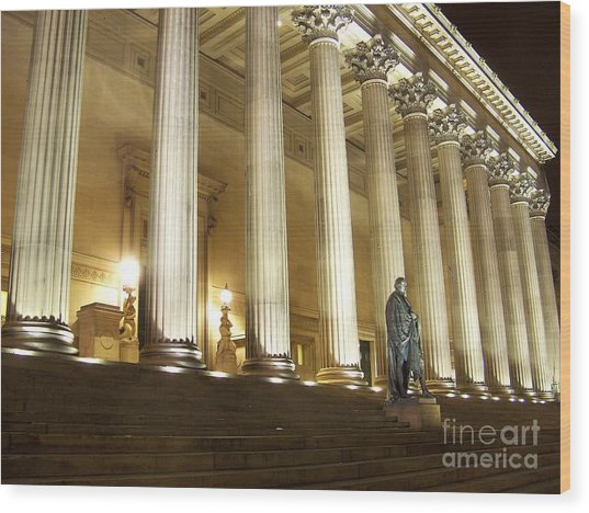 St. Georges Hall Liverpool Uk Wood Print