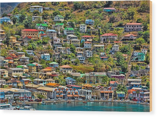 St. Georges Harbor Grenada Wood Print