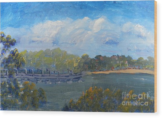 St Georges River Near Como Marina  Wood Print