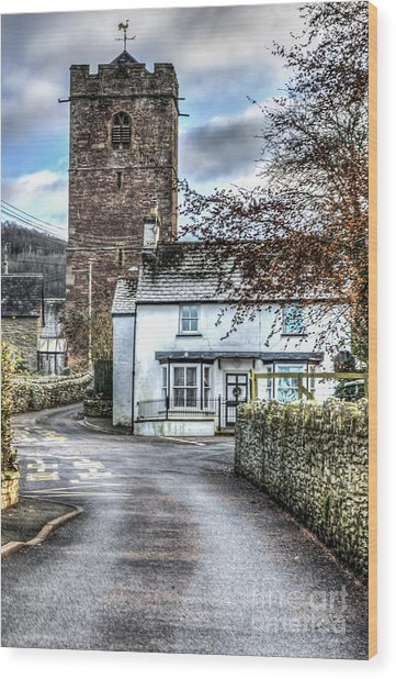 St Gwendolines Church Talgarth Wood Print