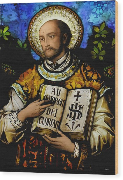 St. Ignacius Of Loyola Wood Print
