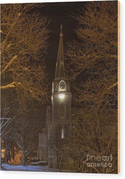 St. James Episcopal Church Steeple Wood Print