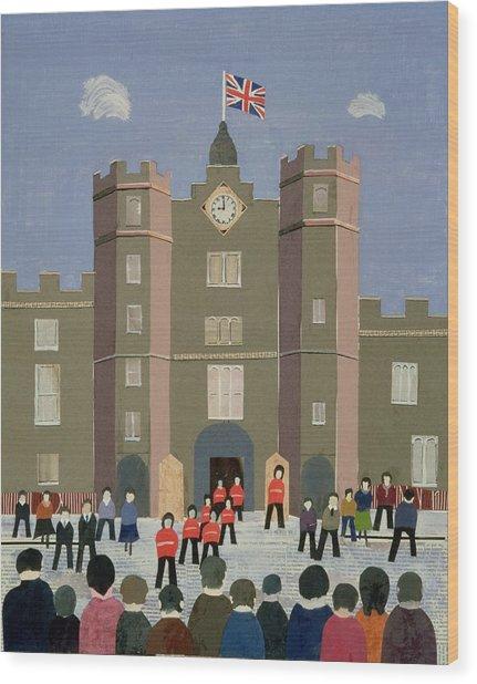 St. Jamess Palace Collage Wood Print