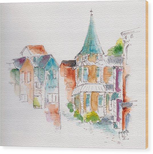 St John Harbor Hill Wood Print by Pat Katz