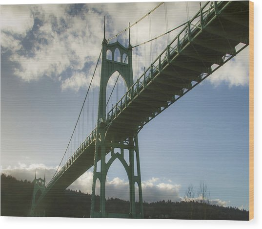 St Johns Bridge Wood Print