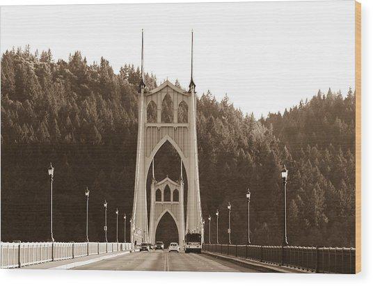 St. John's Bridge Wood Print