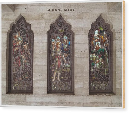 St Josephs Arcade - The Mission Inn Wood Print