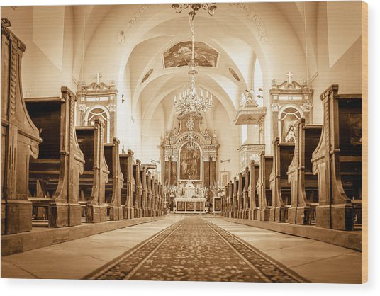 St Laszlo Roman Catholic Church Oradea Romania Wood Print