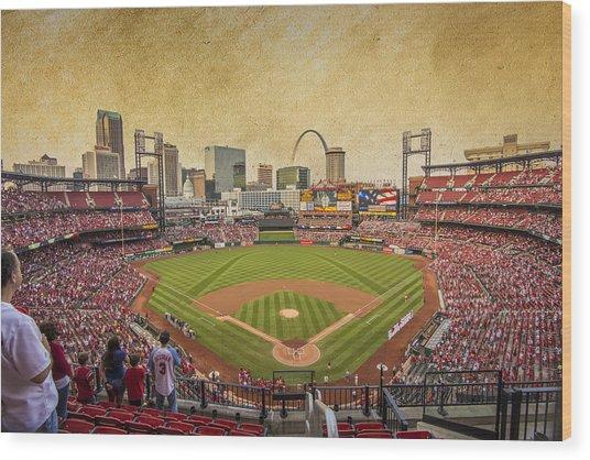 St. Louis Cardinals Busch Stadium Texture 9252 Wood Print