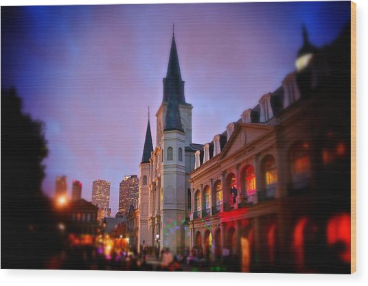 St. Louis Cathedral 3 Wood Print