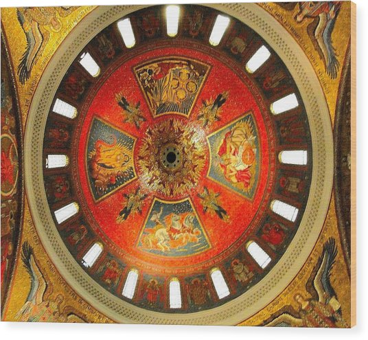 St. Louis Cathedral Dome Wood Print