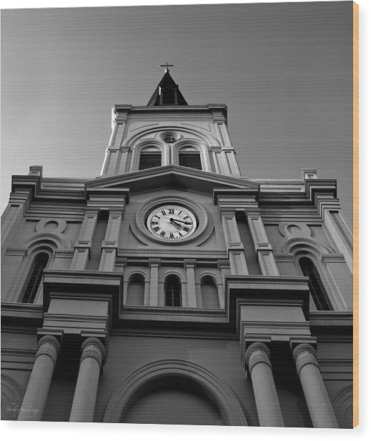 St. Louis Cathedral Perspective Wood Print