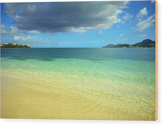 St. Maarten Tropical Paradise Wood Print