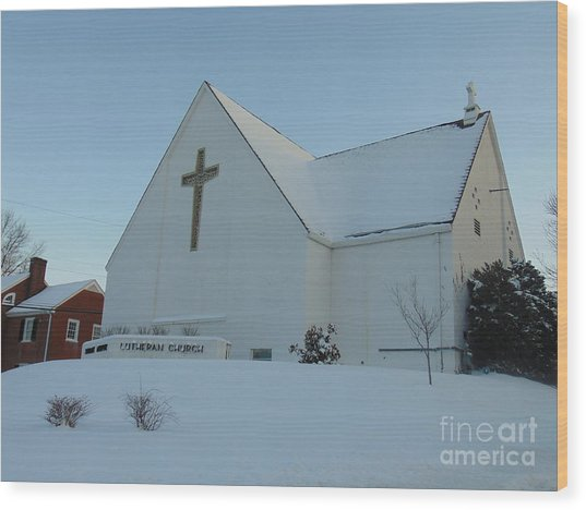 St. Marks Lutheran Church Wood Print