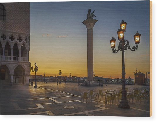 St Marks Square Wood Print
