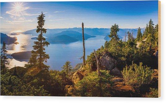 St Mark's Summit Near Vancouver Wood Print