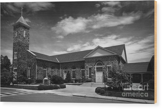 St. Mary Of The Mills Laurel Maryland Wood Print