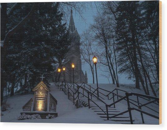 St Mary's Christmas Wood Print
