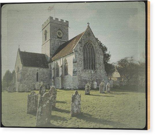 St Marys Church Dinton And Churchyard Wood Print
