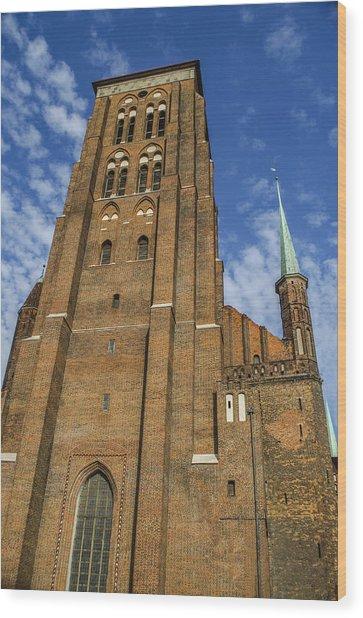 St. Mary's Church In Gdansk Wood Print by Adam Budziarek