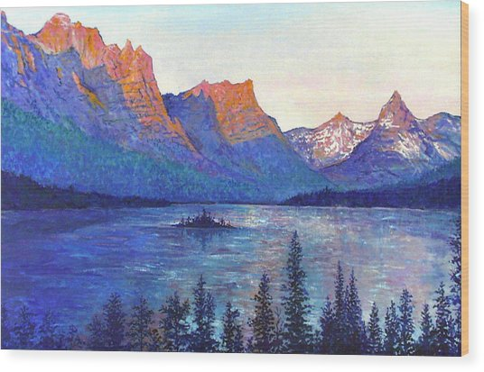 St. Mary's Lake Montana Wood Print
