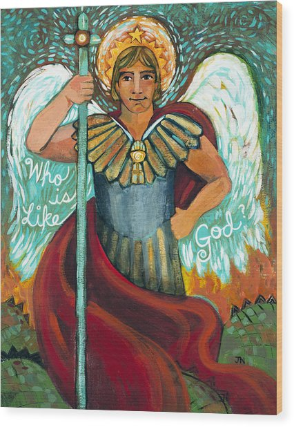 St. Michael The Archangel Wood Print