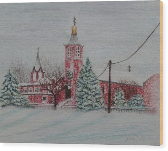 St. Nicholas Church Roebling New Jersey Wood Print