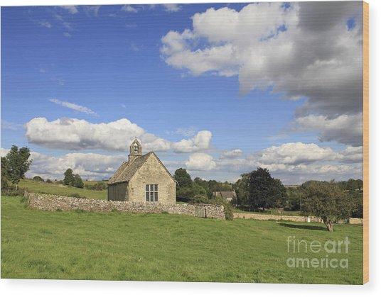 St Oswalds Chapel Oxfordshire Wood Print
