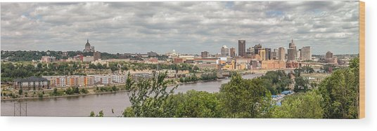 St Paul Skyline 2005 Wood Print