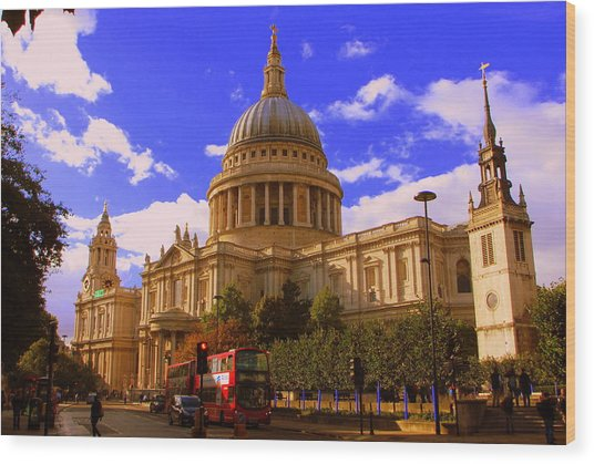 St Pauls Catherdral Wood Print by Donald Turner