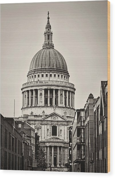 St Pauls London Wood Print