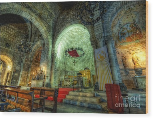 St Pere De Puelles Church - Barcelona Wood Print