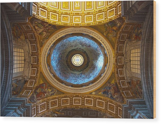 Wood Print featuring the photograph St. Peter's Basilica by Brad Brizek