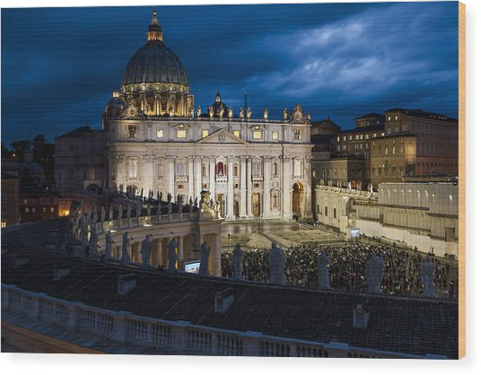 St Peters Basilica Rome Wood Print