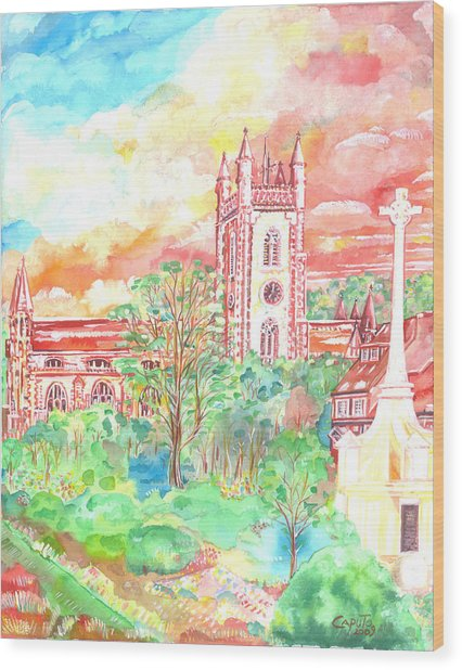 St Peter's Church - St Albans Wood Print