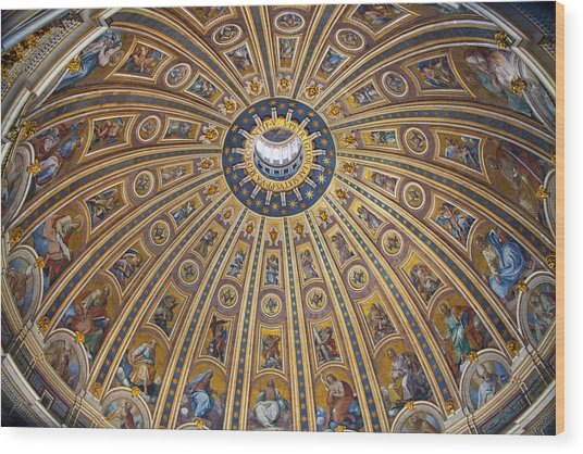 St. Peter's Cupola Wood Print