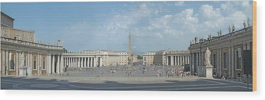 St. Peter's Square Wood Print by Harold Shull