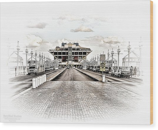 St. Petersburg Pier Dec 2011  Wood Print