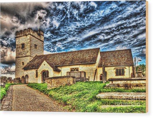 St Sannans Church Bedwellty Wood Print