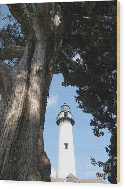 St. Simon's Lighthouse Wood Print