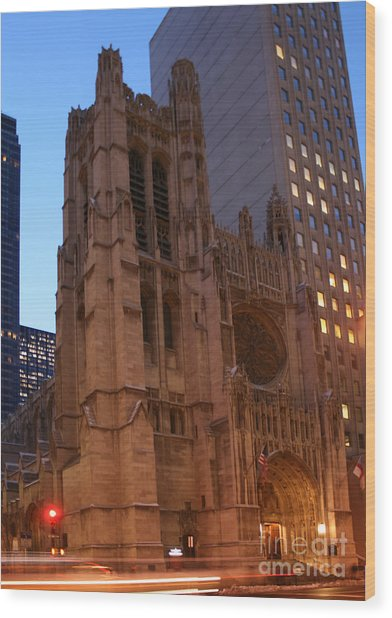 St Thomas Episcople Church Wood Print
