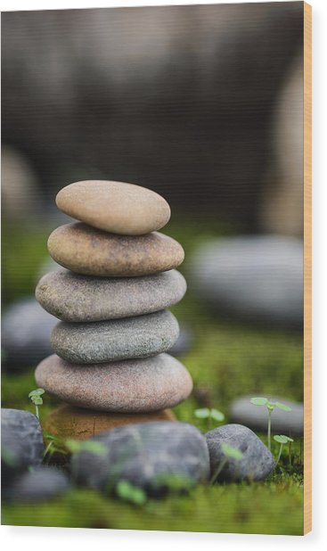 Stacked Stones B2 Wood Print