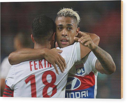 Stade Rennais V Olympique Lyonnais - Ligue 1 Wood Print by Jean Catuffe