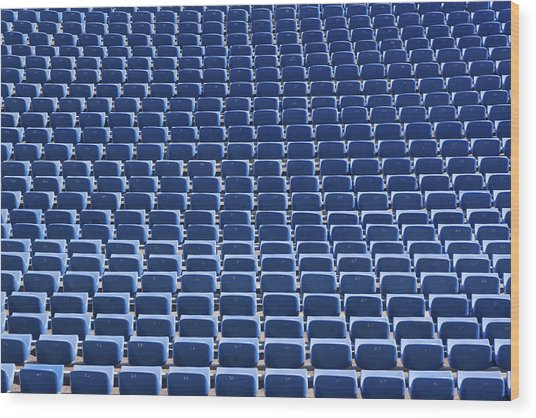 Stadium - Seats Wood Print