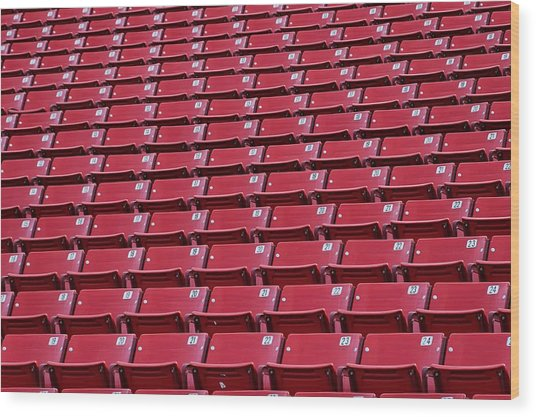 Stadium Seating Wood Print