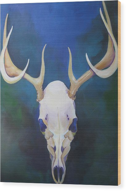 Stag Wood Print by Allison Kohn