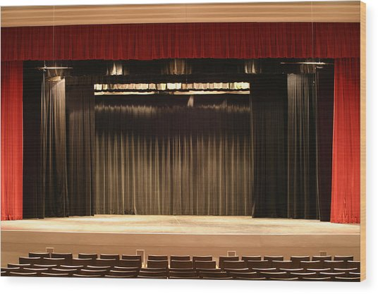 Stage Curtain 2 Wood Print by Jondpatton