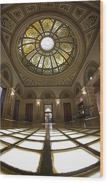Stain Glass Rotunda Wood Print