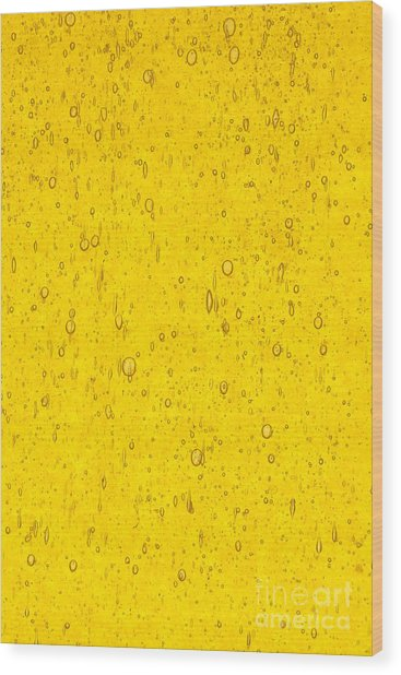 Stained Glass Abstract Yellow Wood Print