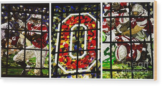 Stained Glass At The Horseshoe Wood Print
